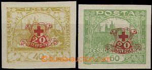 55782 - 1920 Pof.170Nc + 171Nc, nevydané, nezoubkované s přítisk
