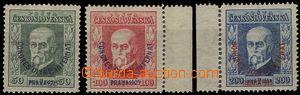 55784 - 1925 Pof.180-3 Kongres, P7, P5, P5, 2x krajový kus, vše zk