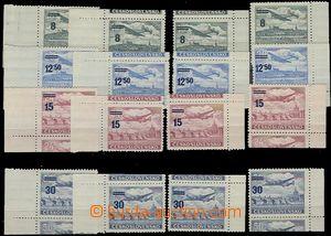 55814 - 1949 Pof.L29-L32 Air overprint provisory, complete corners (