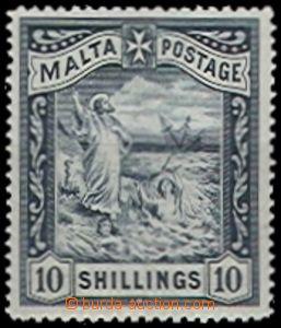 55819 - 1899 Mi.14 Malta Postage, stopa po nálepce, kat. 130€
