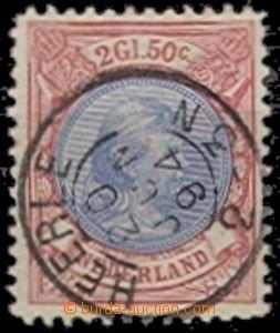 55822 - 1894 Mi.45B Wilhelmina, highest value, clear complete postma