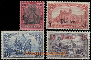 55842 - 1905 Mi.31-34, part overprint set, better values, smaller hi