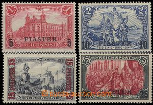 55843 - 1900 Mi.20-23, overprint, better values, hinged