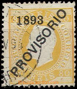 55849 - 1893 Mi.92  přetisková PROVISORIO, stopa po nálepce, lehce z