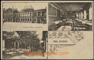 55872 - 1922 Moravská Ostrava - 3okénková, Národní dům a sokol