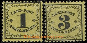 55876 - 1862 Mi.1y + 2y. mint never hinged (!), nice, c.v.. 600€