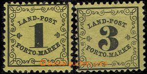 55876 - 1862 Mi.1y + 2y. bez nálepky (!), pěkné, kat. 600€
