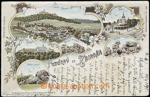 55877 - 1898 Zbiroh - lithography; long address, Us, bumped corners,