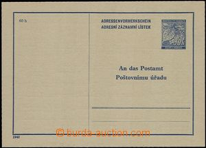 55904 - 1940 CAZ1 with production vadou: on reverse in/at pre-printe