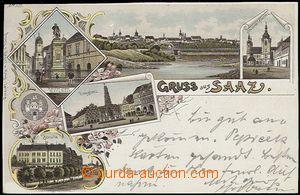 55913 - 1897 Saaz (Žatec) - color collage lithography, 5-views,  lo