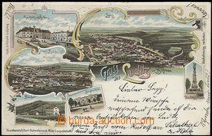 55914 - 1897 Žlutice (Luditz) - color collage lithography, 6-views