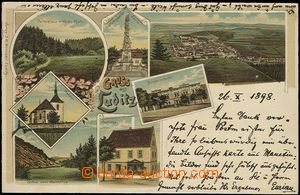 55915 - 1898 Žlutice (Luditz) - color collage lithography, 7-view (