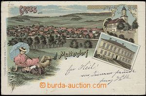 55916 - 1898 Muttersdorf (Mutěnín) - color collage lithography, 4-