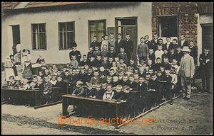 55923 - 1909 POŠTORNÁ - closure of Czech school by constabulary, l
