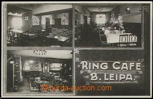 55941 - 1934 Česká Lípa - Ring Café, čb 3-okénková pohlednice