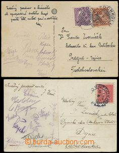 55947 - 1922-25 SPORTSMEN,  2 pcs of Ppc with signatures Czechosl. f