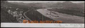 55956 - 1901 Litochovice nad Labem (Lichtowitz) - dvoudílná pohled