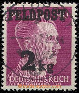 55992 - 1944 Mi.3, overprint FIELD-POST/ 2kg, c.v. 350€