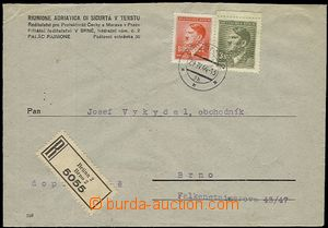 56027 - 1944 commercial Reg letter insurance company Riunione Adriat