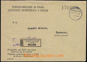 56034 - 1940 Poštovní spořitelna  úřední obálka Poštovní sp