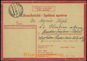 56036 - 1944 stationery Express Card No.1 T II., sent 20.11.1944 fro