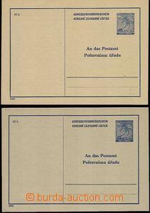 56107 - 1940 CAZ1 + CAZ1Pa, both variants, superb, c.v.. 850CZK