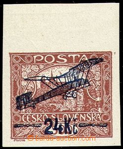 56113 - 1920 Pof.L2 IIp, 24Kč/500h brown, stamp. with upper margin,