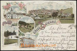 56136 - 1897 Bochov (Buchau) - lithography; long address, Us, bumped