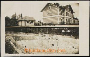 56141 - 1920 HORNÍ BŘÍZA - 2-views, kaolínový colliery, railway