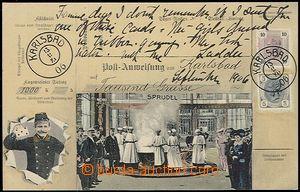 56143 - 1906 Karlovy Vary - postal order; Un, very good condition
