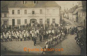 56147 - 1922 Hrádek n./N. - Sokol celebration in Upper sq. before/(