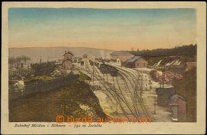 56149 - 1926 Moldava (Moldau) - railway-station, end station; Us, wr