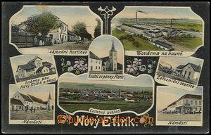 56152 - 1910 NOVÁ VČELNICE (Nový Etink) - 8-views, railway-statio