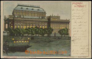 56156 - 1900 Josef Šváb č. 503, Národní divadlo, lito barevná;