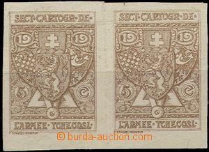 56164 - 1919 FRANCIE  2-páska dobročinných nálepek 'a 5c vydaný