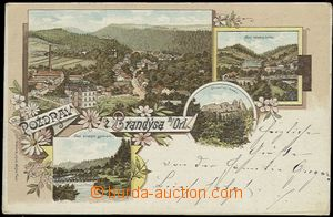 56182 - 1898 Brandýs nad Orlicí - lithography; long address, Us, bum