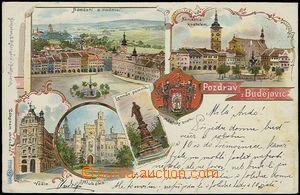 56185 - 1899 České Budějovice - litografická koláž, městský