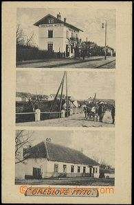 56187 - 1925 Grešlové Mýto - 3okénková, nádraží, povoz, host