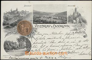 56189 - 1898 Hodkovice nad Mohelkou - picture collage, town seal, Sy