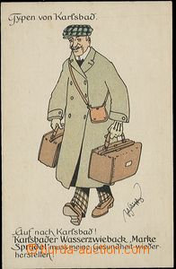 56192 - 1910 Karlovy Vary - Types von Karlsbad; Un, good condition