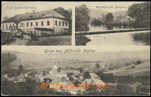 56200 - 1919 Moravská Harta (Mährisch Hartau) - 3-views, pub Josep