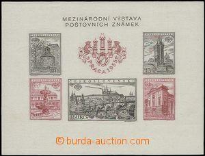 56218 - 1955 Pof.A853/857B  Praga 1955, nezoubkovaný aršík s DV A