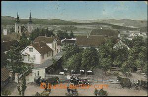 56226 - 1913 Vranov - pohled z výšky do zahrádky letní restaurac
