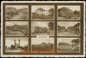 56231 - 1936 Khust - 9-views, railway-station; Us, wrinkled corners