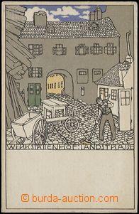 56251 - 1910 Wiener Werkstaette No. 536, nesignováno; nepoužitá,