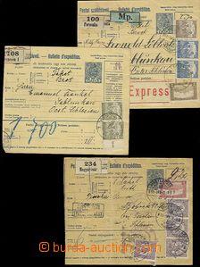 56278 - 1918 3ks větších dílů uherských mezinárodních pošto