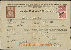 56289 - 1941 stamped request (print č.772) about/by propůjčení l