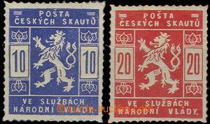 56315 - 1918 Pof.SK1+2 Skautské, obě padělky, s lepem,  jen pro s