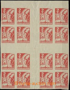 56316 - 1945 Pof.354 Košice-issue, large cross (16 stamps), vertica