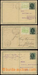 56436 - 1919 CDV1, comp. 3 pcs of from postal rate I, all addressed